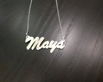 Is your name MAYA? Here's your necklace!