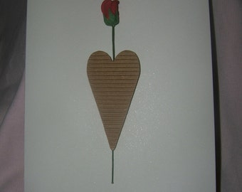 Lovely handmade Valentine card Husband Wife Boyfriend Girlfriend unusual