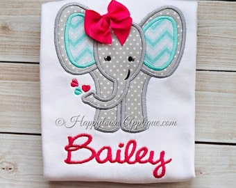 Elephant Girl Machine Embroidery Design