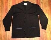 1940's Whiting Los Angeles Sweater. Black. 100% virgin wool. M/L.