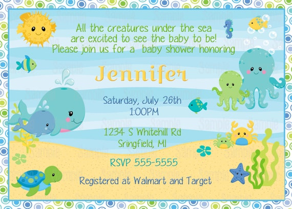 printable under the sea baby shower by partyinnovations on etsy, Baby shower