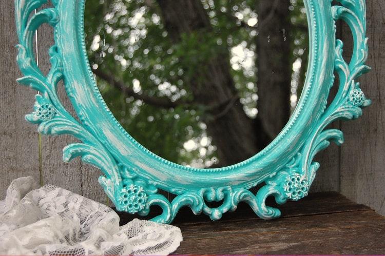 Shabby chic miroir miroir mural miroir par thevintageartistry for Miroir mural fille