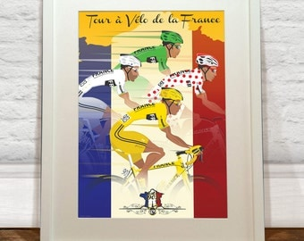 Tour De France Jerseys Art Print - Wyatt 9