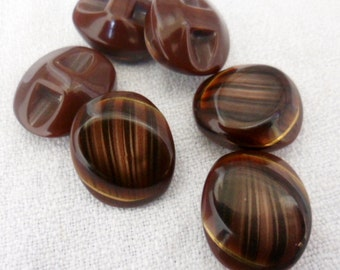 Bakelite Buttons - Large Bakelite Buttons | brown bakelite buttons | vintage - 3pcs