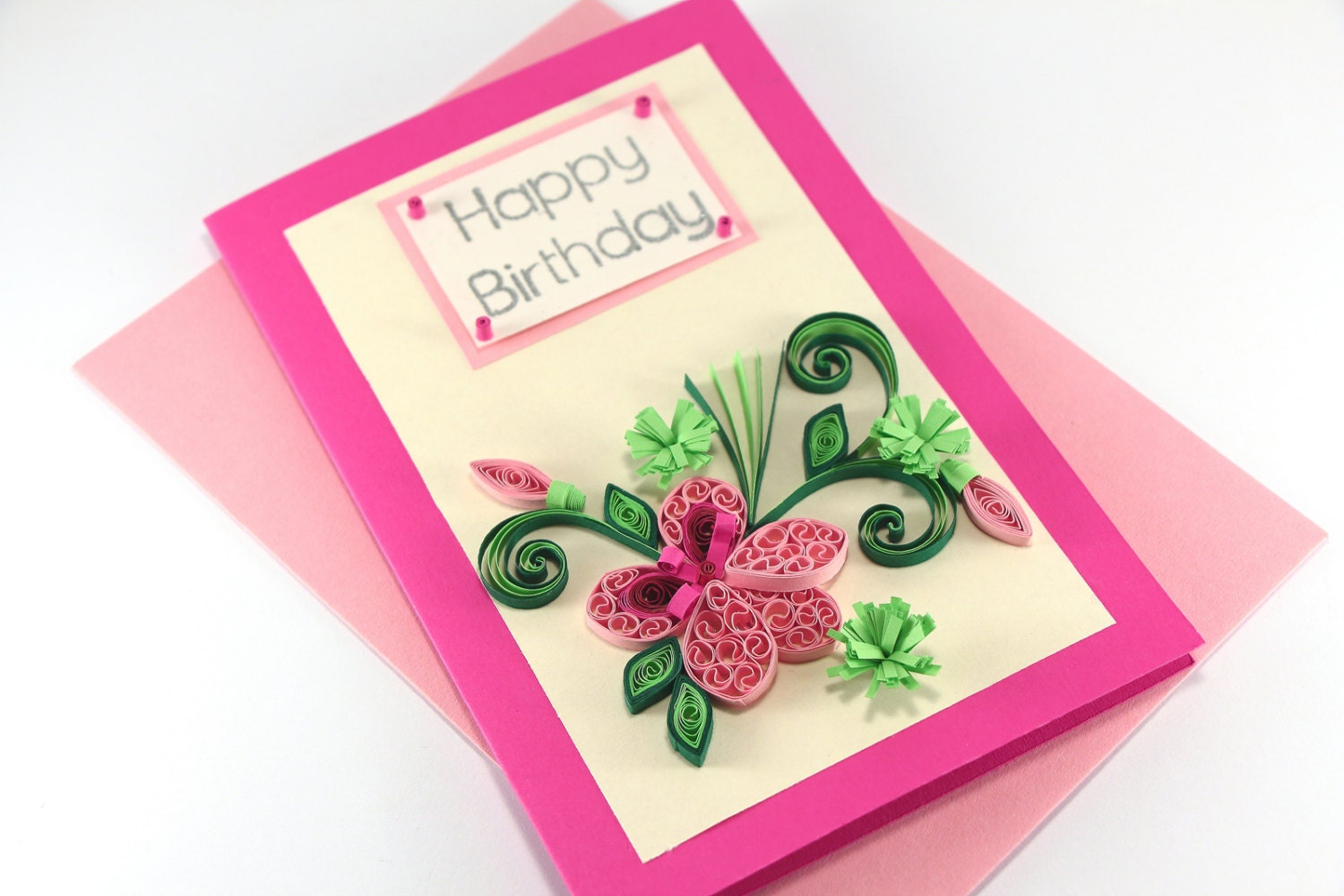 Happy birthday card handmade quilling flower for mom zoom dhlflorist Choice Image