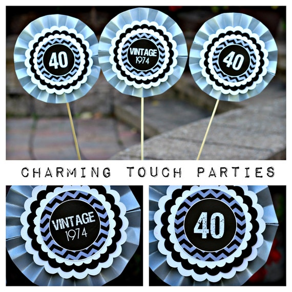 Black And Silver 40th Birthday Party Decorations Image Inspiration