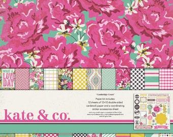 My Mind's Eye KATE & CO - Cambridge Court - 12x12 Scrapbook Paper Kit