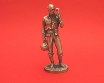 General Alexander Archer Vandegrift World War II  Pewter 75mm Figurine World War 2 Allied Leader Collectible Model