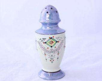 Lovely Blue Lusterware Sugar Shaker, Hand Painted Sugar Shaker, Made in Japan Sugar Shaker