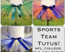 Sports Team Tutu - NFL Tutu, MLB Tutu, College Football Tutu, NBA Tutu - Game Day Tutu - Pick Any Team - Baby Tutu, Made for any age