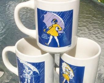 Salt mugs MORTON SALT GIRL Ceramic mugs