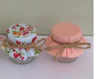 Do It Yourself Mini Jar Wedding Favour -Peach Wedding -Summer Wedding-summer Floral-Fill with Preserves, candy or bath salts