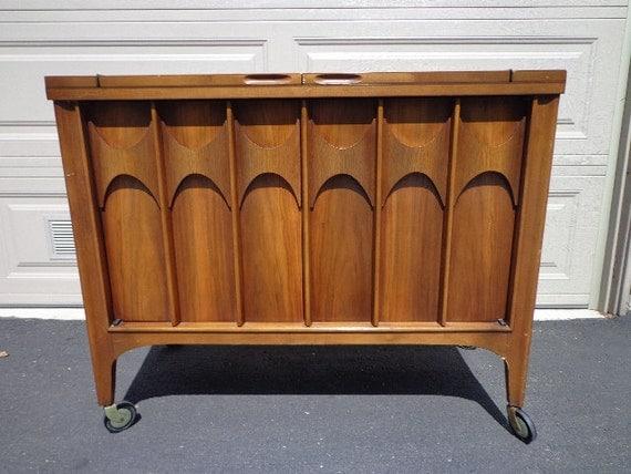 mid century modern kent coffey perspecta bar cart server tea. Black Bedroom Furniture Sets. Home Design Ideas