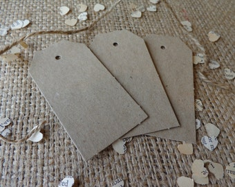 48 BOMBONIERE TAGS~ Rustic Brown Tags