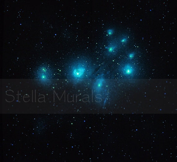 Glow In The Dark Star Ceiling Mural Pleiades Removable