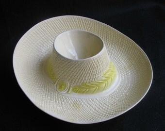 Metlox Sombrero Mexican Hat Salsa & Chip Dish