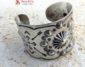 Reserved for Jodie    Vintage Navajo Sterling Silver Large Cuff Bracelet