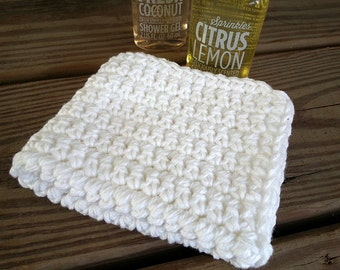 Hand Crochet Wash cloths Set of 10 cleaning cloths, cleaning rags,  face cloth, Spa Style