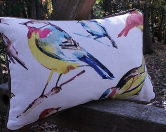 14x20 inch Throw Pillow: Richloom Birdwatcher Fabric - Free Shipping to Continental USA