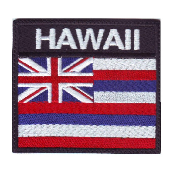 Hawaii badge flag embroidered sew on patch