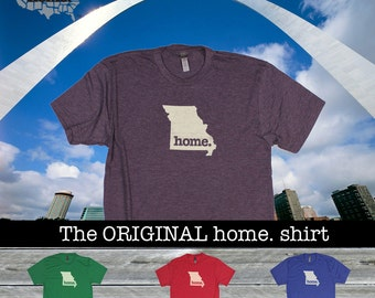 Missouri Home. shirt- Men's/Unisex red green blue purple