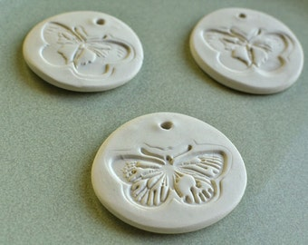 butterfly clay pendant