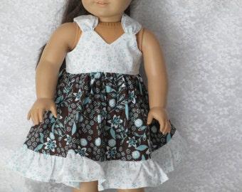18 Inch Doll-- Summer Twirly Doll Dress--Shown on my American Girl Doll