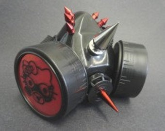 Red Gas mask Kitten Respirator