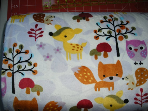 Fox animal print minky cuddle fabric by ez by forsewitseams2 for Fox print fabric