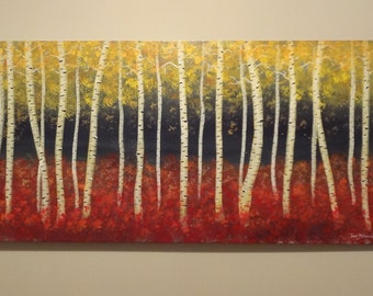 Aspen trees ORIGINAL PAINTING on canvas