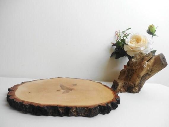 holz scheibe baum slice rustikale holz tafel von. Black Bedroom Furniture Sets. Home Design Ideas