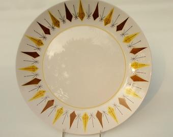 midcentury platter fun motif by Mikasa