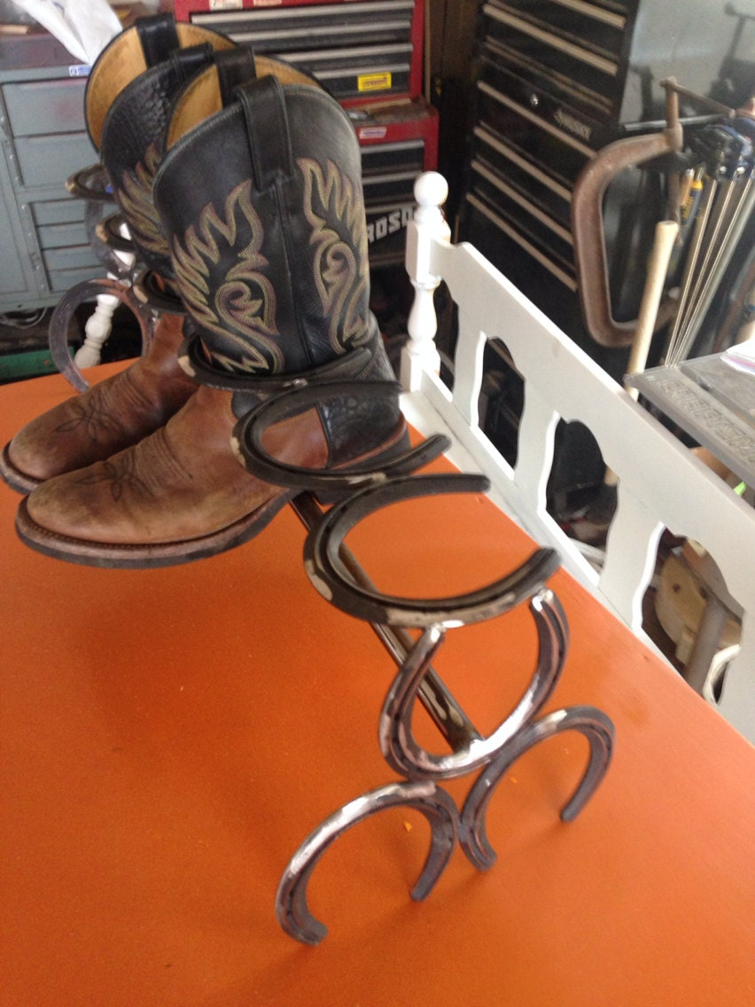horse shoe boot rack by fabricationsbybruce on etsy. Black Bedroom Furniture Sets. Home Design Ideas