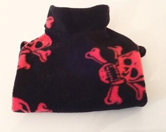 Sphynx Cat Fleece Top/Jumper/Sweater (Red Skull & Cross bones) SALE now on