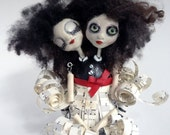 OOAK Creepy Cuties - The Twins. Hand Sculpted Art Doll