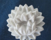 RESERVED FOR SIRI  Vintage Celluoid White Flower Drapery Pins/ Hardware Two Sets of 2
