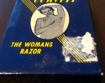 Collectable Advertising Curvfit Womans Razor from the 1950's