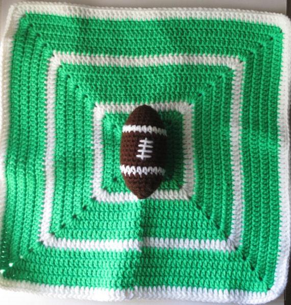 Crochet Football Security Blanket Pattern, Crochet