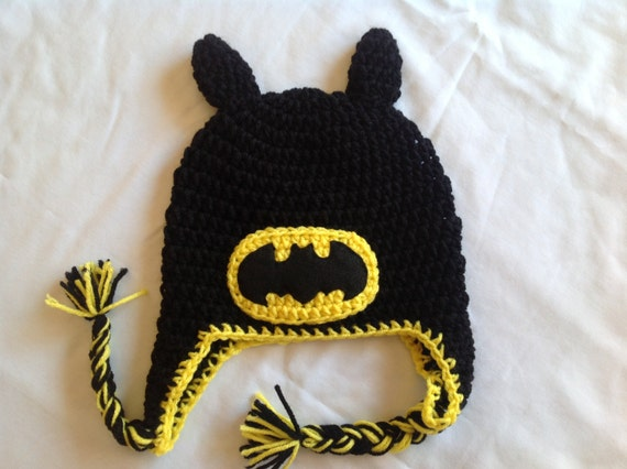 Crochet Pattern Batman Hat : Crochet Super Hero Hat: Batman
