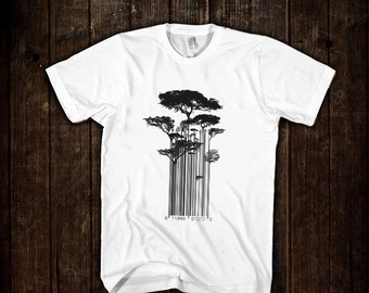 Street Art Banksy Style Barcode Trees Limited Edition T-shirt
