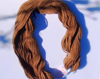 Huacaya and Suri alpaca blended yarn 3 ply worsted light brown
