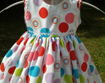 Multi Coloured Spot Baby Dress