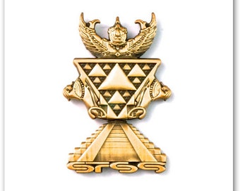Sts9 3D Empires Antique Gold Hat pin
