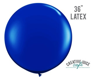 """36"""" BLUE giant latex balloon - Perfect for weddings, birthdays, photography props"""