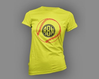 Softball Monogram T Shirt