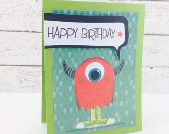 Happy Birthday Monster Card