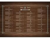 Country Wood Wedding Seating Chart DIY PRINTABLE Digital File Wedding Seating Plan Wedding Seating Sign Wedding Seating Board