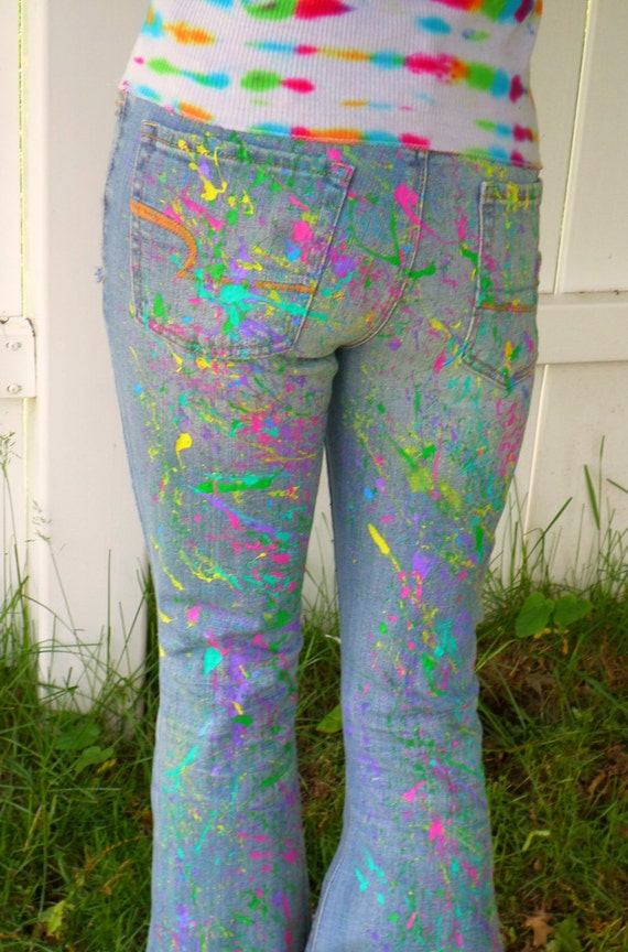 Custom Paint Splatter Jeans