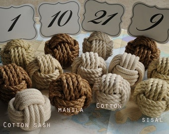 Nautical Wedding - Nautical Decor - Destination Wedding - Beach Wedding - Nautical Event - Special Event  (this is per knot 4 kinds of rope)