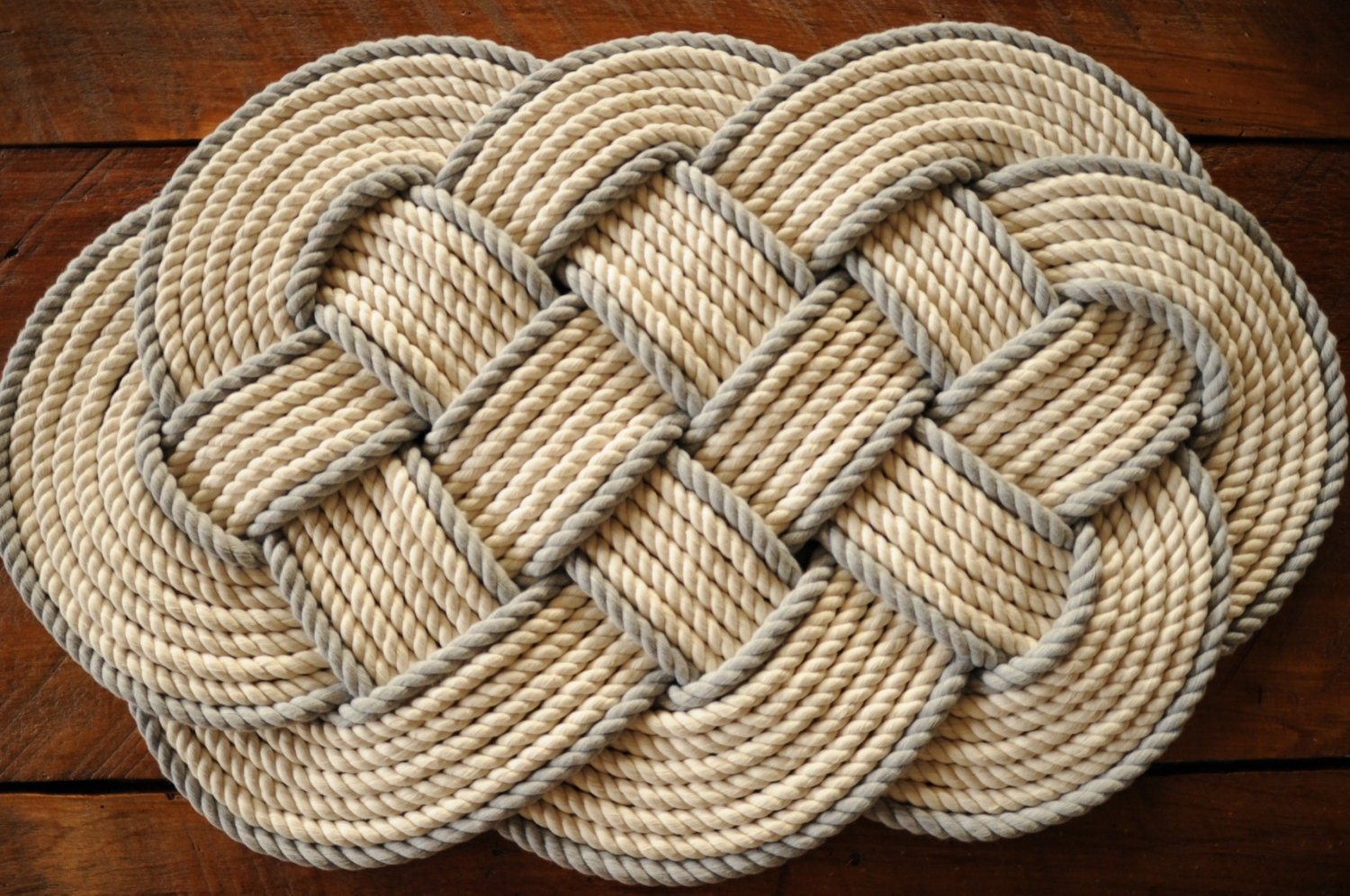Nautical rope rug cotton bath mat nautical gift rope rug for Rope bath mat